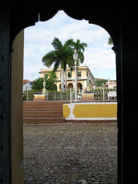 Doorway to Plaza Mejor Trinidad de Cuba