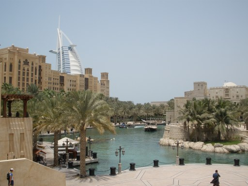 Dubai Madinat Jumeirah view of Burj Al Arab