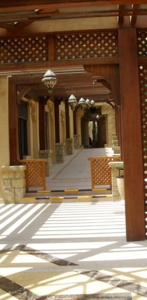 Dubai Madinat Jumeirah verandah shadows