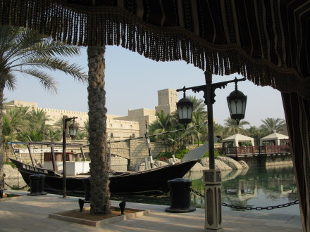 Dubai Madinat Jumeirah outlook from Iftar tent