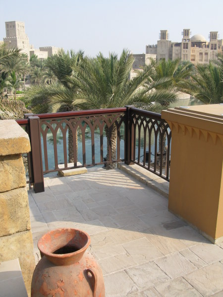 Dubai Madinat Jumeirah outlook over canals