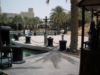 Dubai Madinat Jumeirah palm shadows