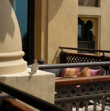 Dubai Madinat Jumeirah quiet verandah