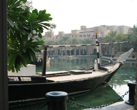 Dubai Madinat Jumeirah waterside docks