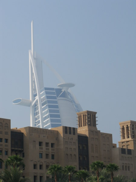Dubai Madinat Jumeirah wind towers nd  Burj Al Arab