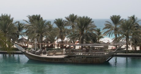 Dubai Madinat Jumeirah traditional wooden ship