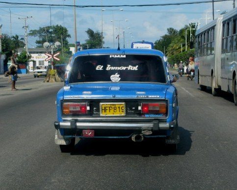 El Immortal Lada Havana Cuba