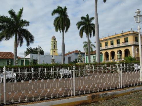 Elaborate fencing Plaza Mejor Trinidad de Cuba