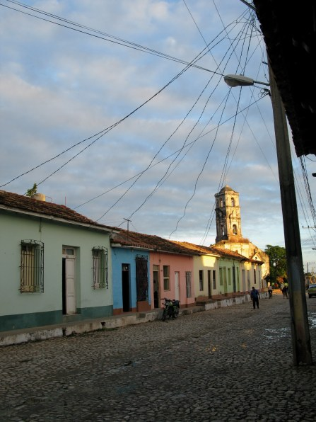 Electrical wire festoon in Trinidad de Cuba