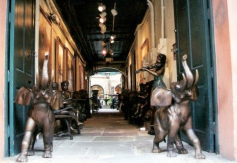 Elephants-guarding-antique-shop-in-the-French-Quarter