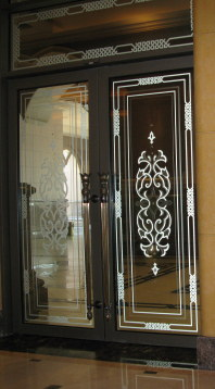 Entrance doors to Emirates Palace Hotel Abu Dhabi