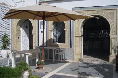 Entrance to restaurant in Hammamet Tunisia