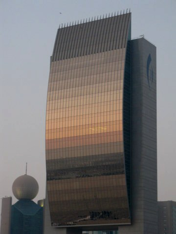 Etisilat and Dubai National Bank Buildings on Dubai Creek