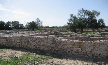 Excavated ruins of Kerkouane in Tunisia