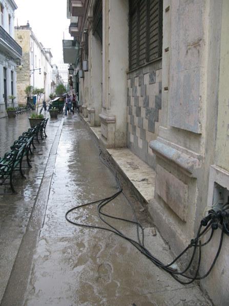 External electrical connections Havana Cuba
