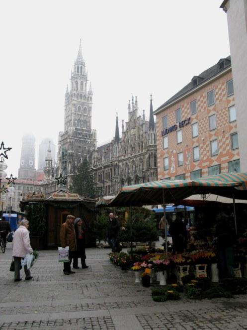 Foggy Munich Christmas Market