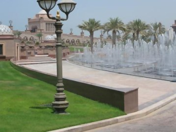 Fountains of Emirates Palace Hotel Abu Dhabi