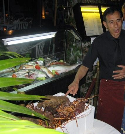 Fresh seafood restaurants Yasmine Marina Hammamet, Tunisia