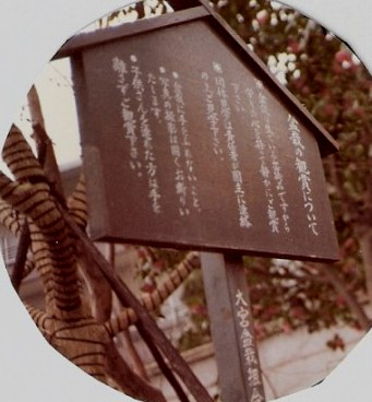 Garden sign and winter tree binding - Omiya Bonsai Village-Tokyo