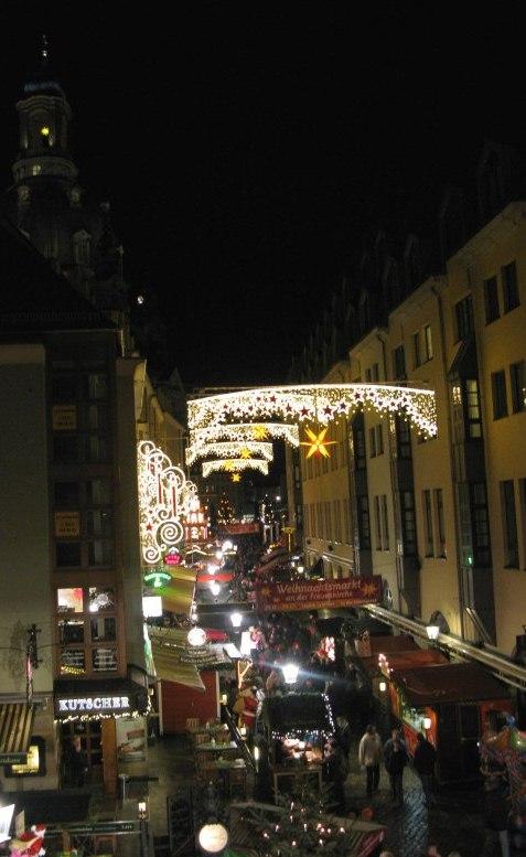 German Christmas Market Dresden street