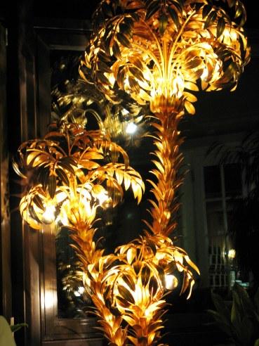 Golden palm lamp Hotel Müller Hohenschwangau Bavaria