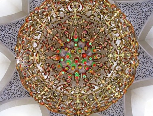 Grand Mosque Abu Dhabi chandelier jewels
