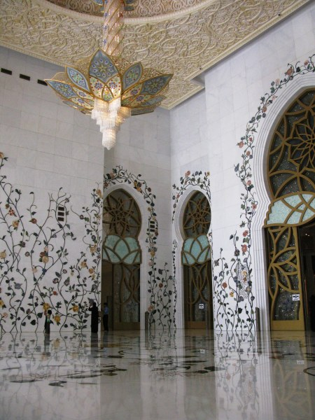 Grand Mosque Abu Dhabi inlaid entrance