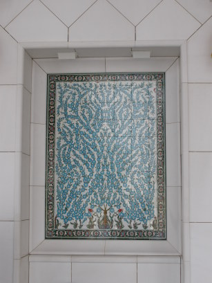 Grand Mosque Abu Dhabi inlaid turquoise panels