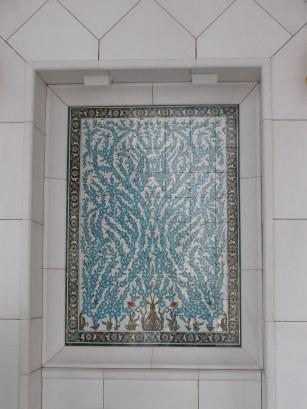 Grand Mosque Abu Dhabi inlaid turquoise panels