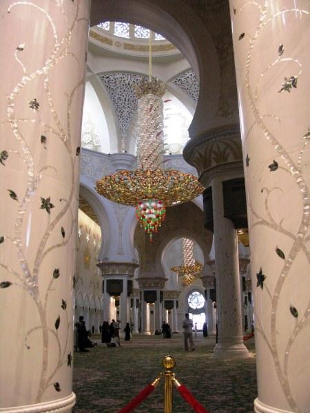 Grand Mosque Abu Dhabi marble columns
