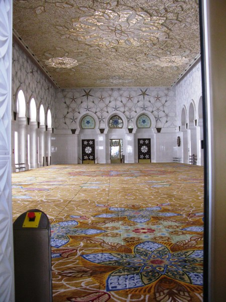 Grand mosque Abu Dhabi women's prayer room