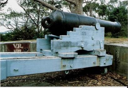 Gun carriages Bradley's Head on Sydney Harbour