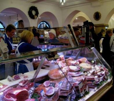 Hams at  Dallmayr store Munich