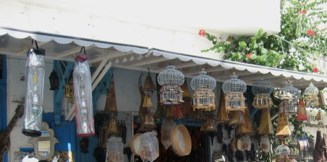 Hanging items in Medina Hammamet Tunisia