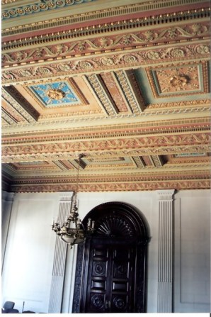 Havana Capitol Building Ceiling, chandelier and carved door