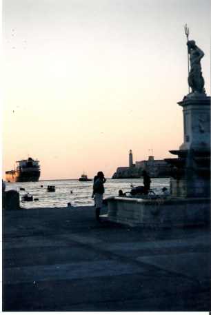 Havana-Poseidon-on-Malecon-at-sunset