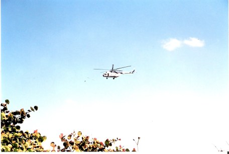 Havana-demonstration-on-Malecón-TV-News-Helicopter