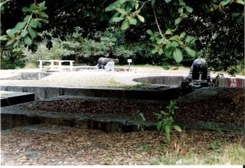 Hidden Gun emplacements at Bradley's Head on Sydney Harbour