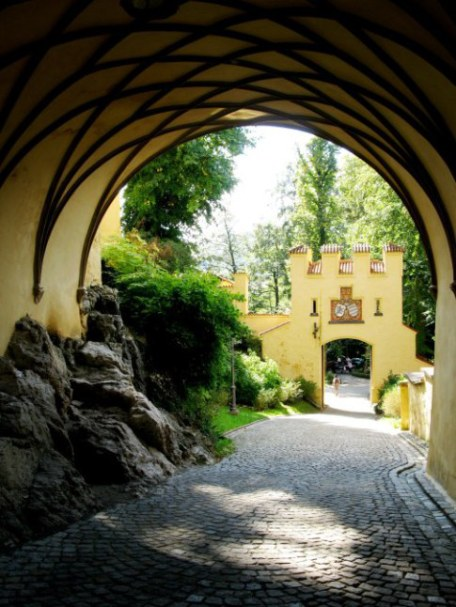 Hohenschwangau Castle Bavaria vaulted carriage exit