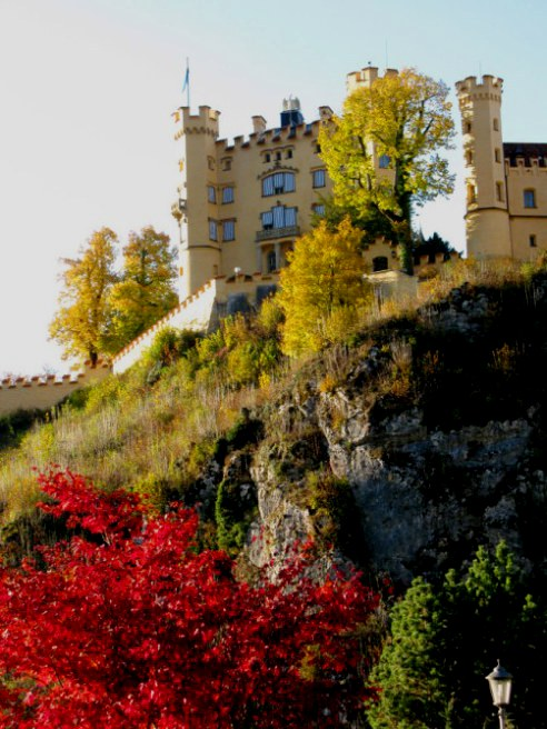 Hohenschwangau Castle with Autumn colours