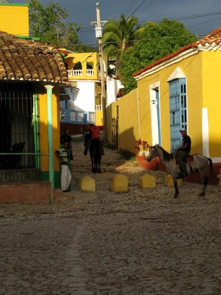 Horse riders Trinidad de Cuba