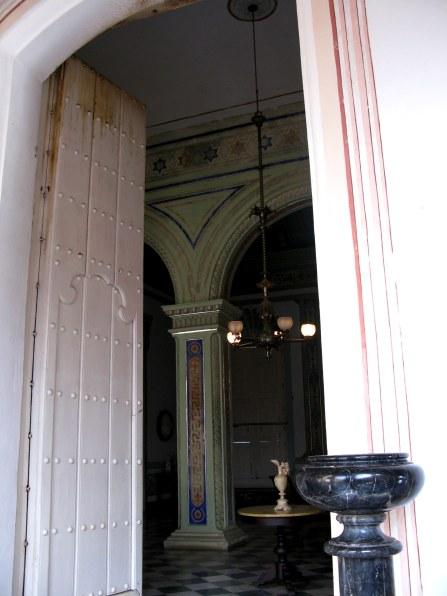 House entrance Palacio Cantero Trinidad de Cuba