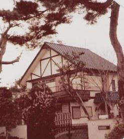 House framed by gnarled pines-  Omiya Bonsai Village – Tokyo