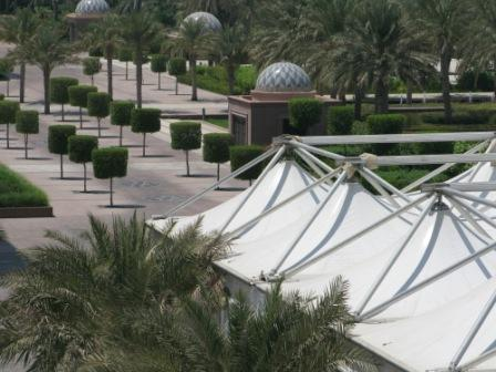Iftar tent in gardens of Emirates Palace Hotel Abu Dhabi