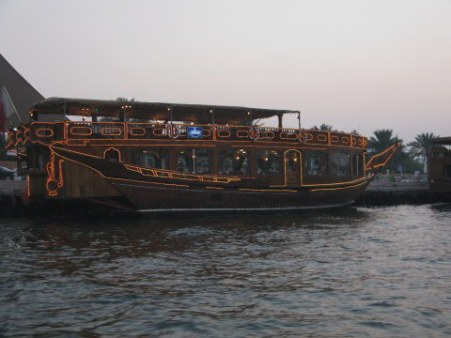 Illuminated party dhow Dubai Creek