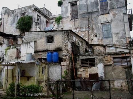 Improvised but permanent housing Havana Cuba