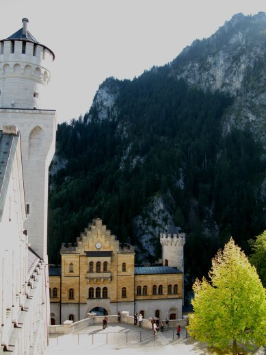 Inner courtyard of Neuschwanstein Castle