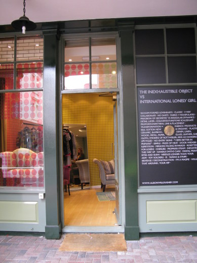 Interior design shop in Bloomsbury London