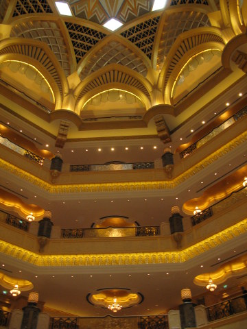 Interior dome Emirates Palace Hotel Abu Dhabi