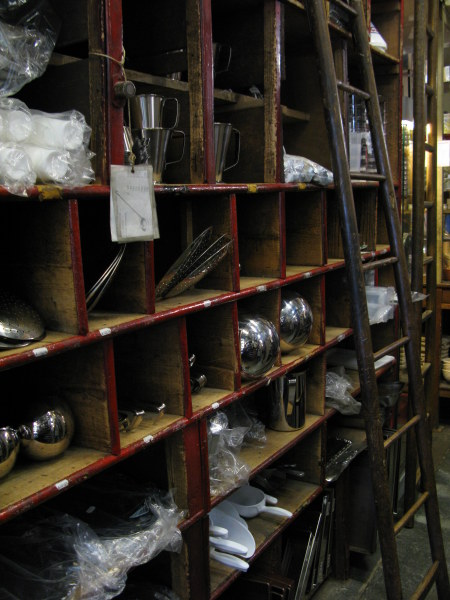 Kitchen utensils in the Dehillerin shop for cooks in Paris